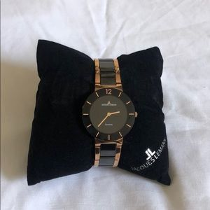 Jacques Lemans Rose Gold and Black watch